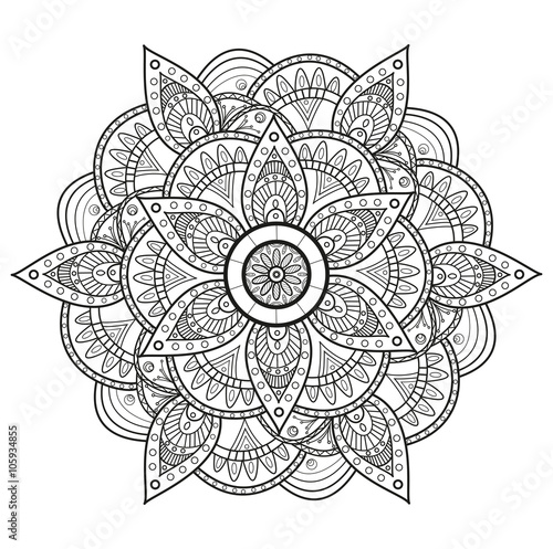 Black and white mandala vector, mandala in bianco e nero