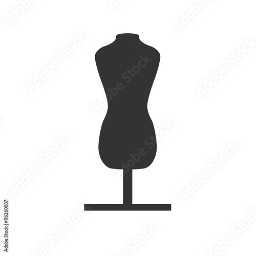 mannequin chair stand covers of hampshire facebook fashion female torso icon tailor dummy simple flat logo isolated on white background