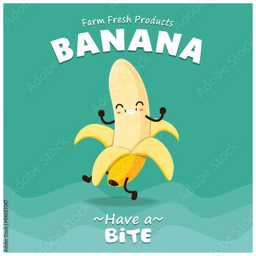 vintage banana poster design