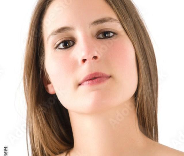 Young Girl Posing With Naked Torso