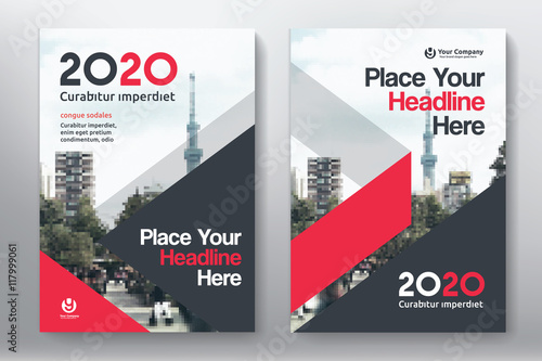 Red Color Scheme With City Background Business Book Cover