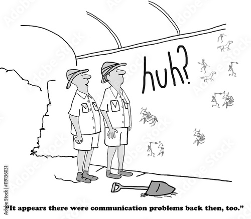 Business cartoon about the importance of communication