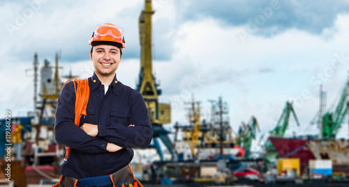 Harbor worker portrait  Buy this stock photo and explore similar images at Adobe Stock  Adobe