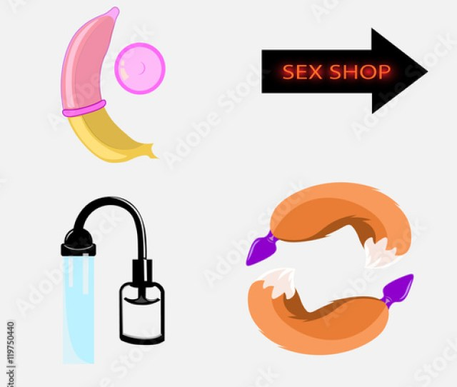 Wearing A Condom On A Banana Butt Plug With Tail And Pump For Penis Enlargement