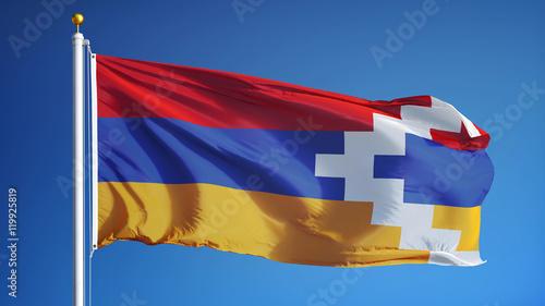 nagorno karabakh flag waving