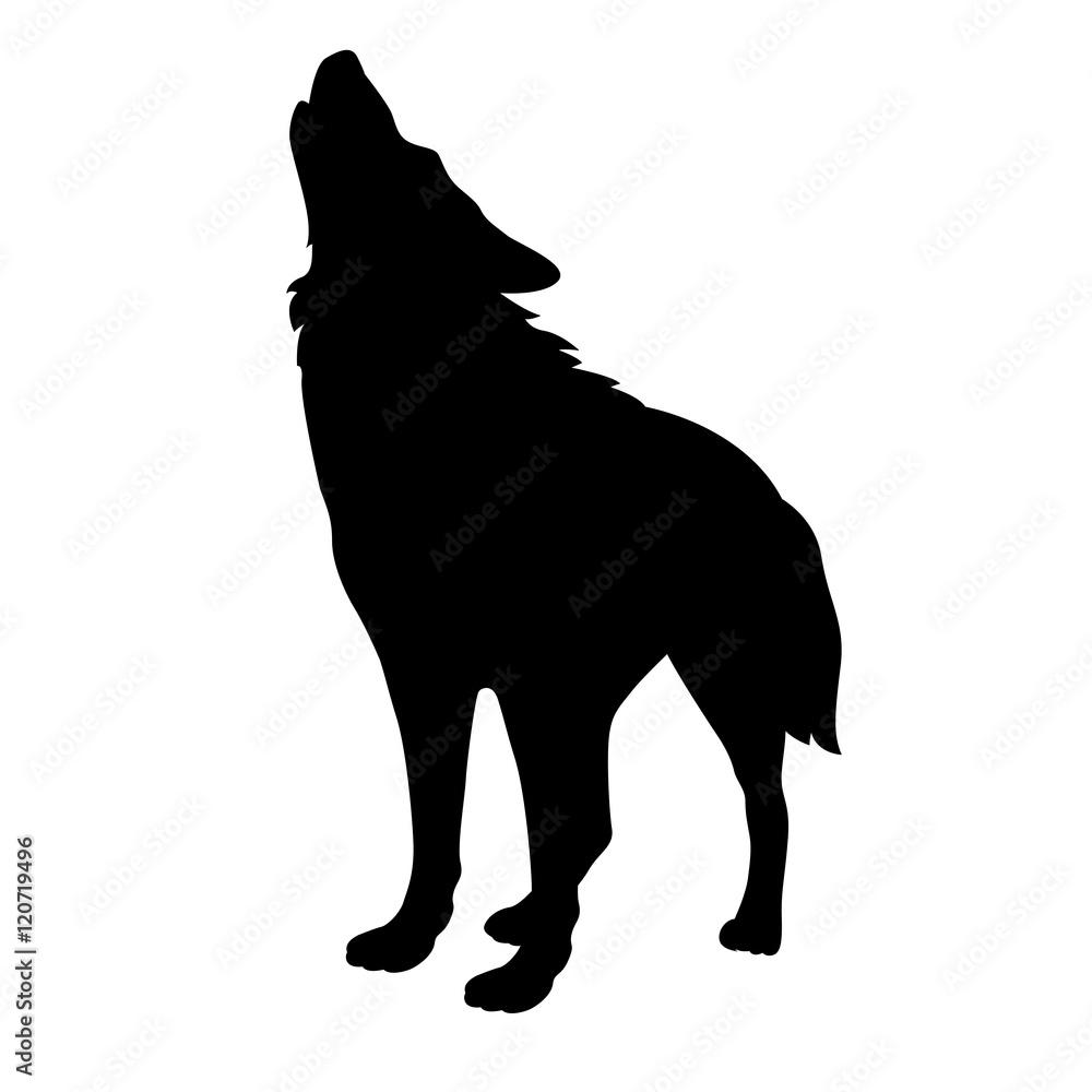 Malvorlage Heulender Wolf
