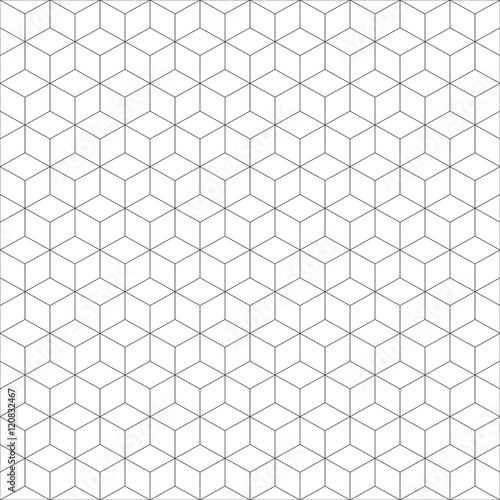 geometric cube seamless pattern.Fashion graphic design