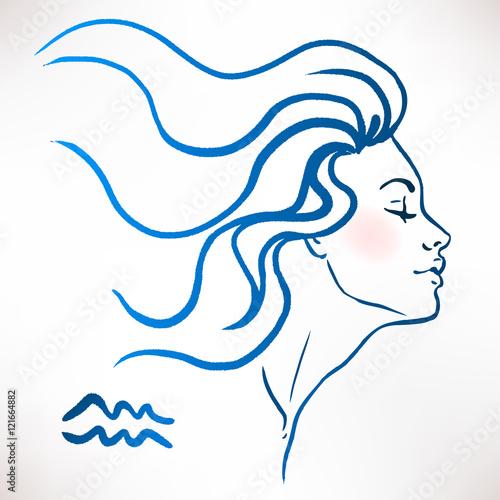 Aquarius Drawing Girl