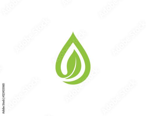 oil water drop leaf