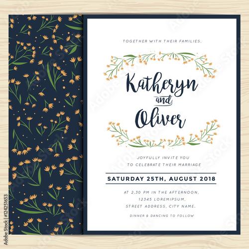 Wedding Invitation Card With Wreath