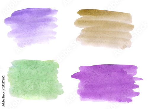 watercolor brushstrokes of different
