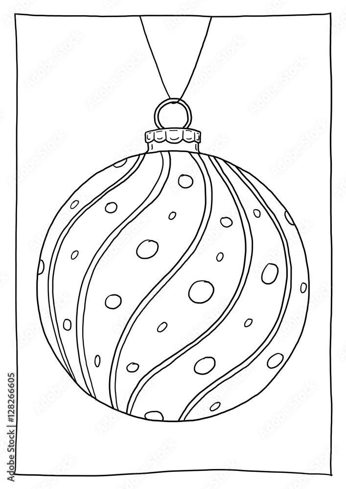 Malvorlage Weihnachtskugel