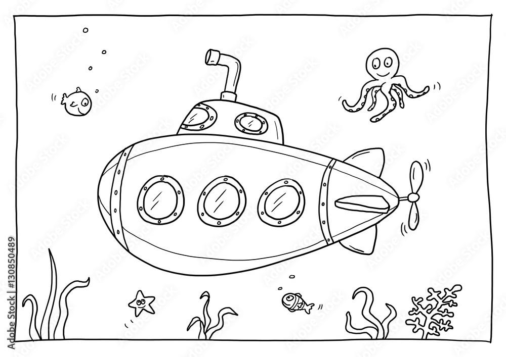 Malvorlagen U Boot Zeichnung