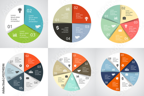 3 arrow circle diagram 2005 jeep grand cherokee starter wiring vector arrows infographic cycle graph presentation chart business concept with 4 5 6 7 8 options parts steps processes