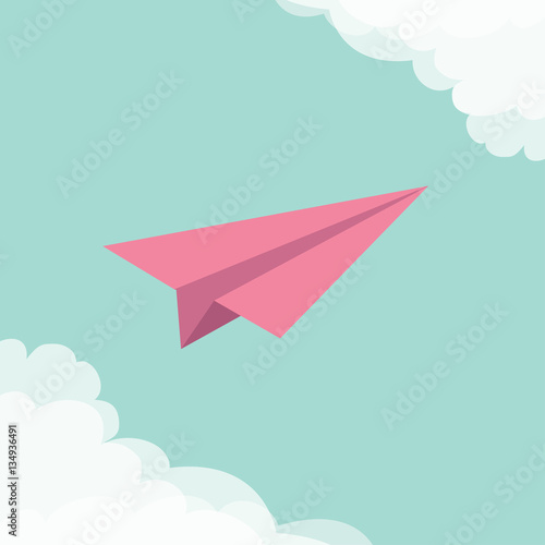 flying origami paper plane