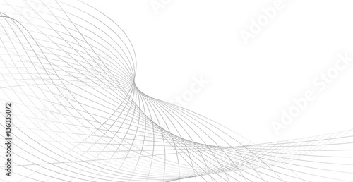 Printed kitchen splashbacks Abstract wave