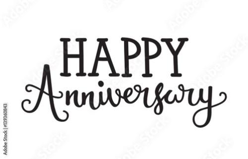 Happy Anniversary Hand Lettering Icon
