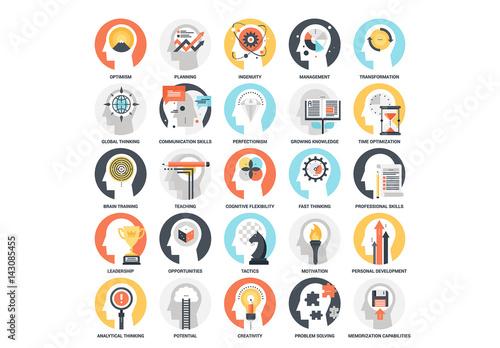 25 mental process icons