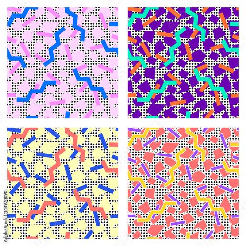 set of memphis patterns
