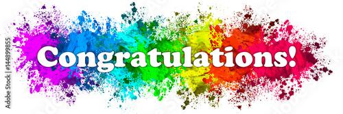 paint splatter words congratulations
