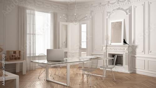 modern minimalist office in