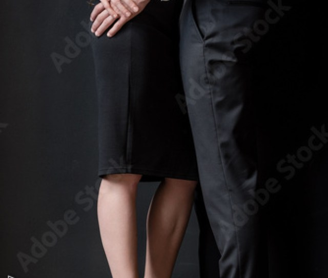 Cropped Shot Of Young Passionate Couple Embracing In Foreplay