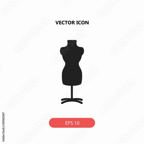 mannequin chair stand antique arm chairs with vector icon buy this stock and explore