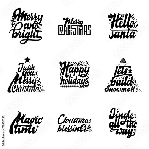 christmas phrases merry and