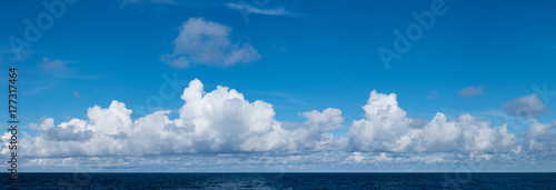 High resolution sky over a calm ocean suitable for any sky replacement composite photo