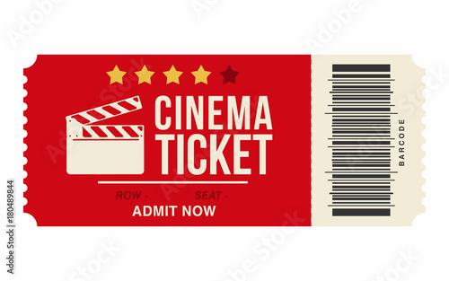 cinema ticket isolated on