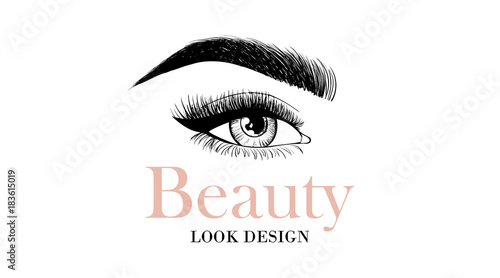 Beauty look design business card or logo template with