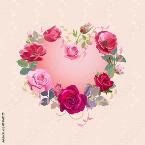 heart of flowers valentine