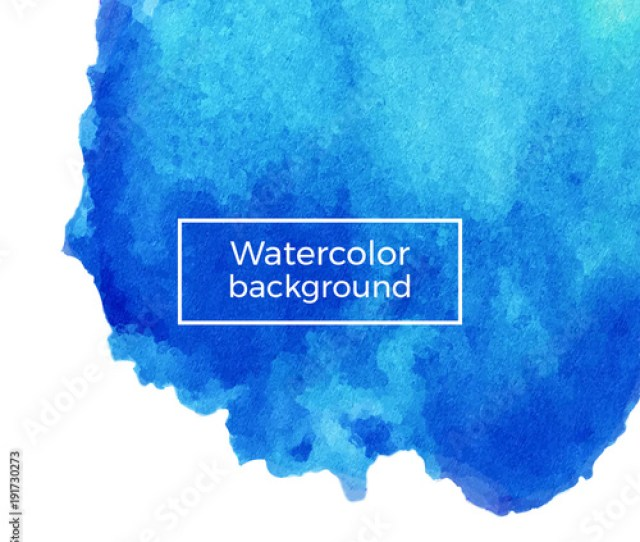 Abstract Blue Marble Watercolor Texture On The White Background Vector Ink Acrylic Decoration