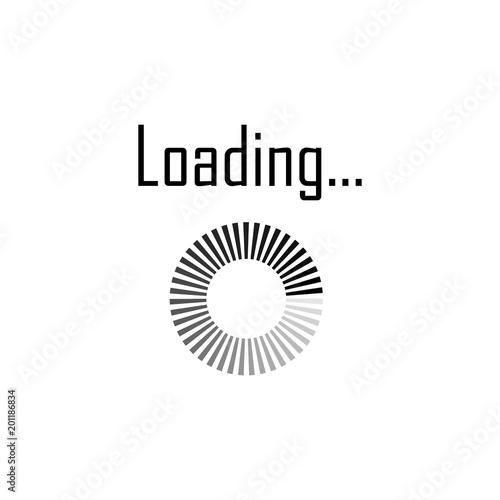 Download sign. Load icon. Load system. Data load. Loading
