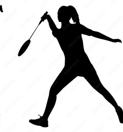 photo art print woman badminton silhouette female badminton clipart girl sports vector girls abposters com [ 1000 x 1000 Pixel ]
