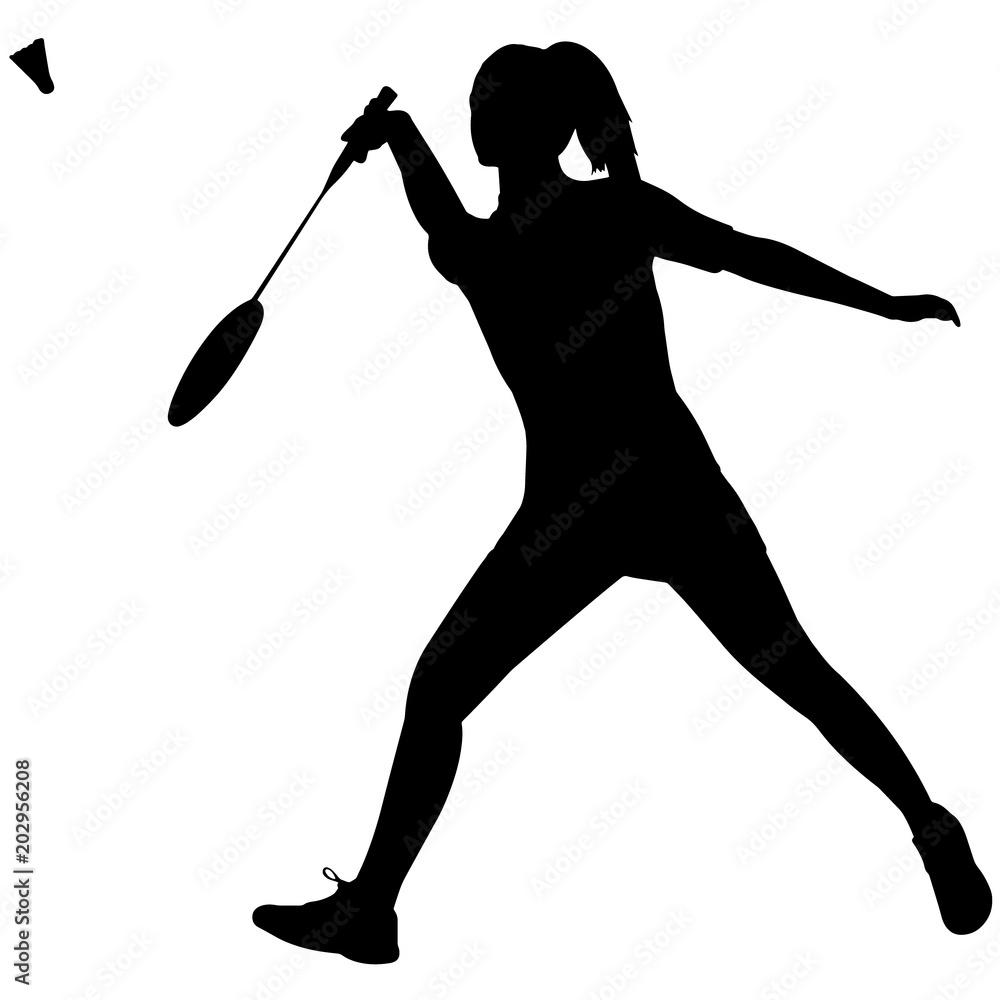 medium resolution of photo art print woman badminton silhouette female badminton clipart girl sports vector girls abposters com