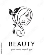 vector logo beauty salon hair