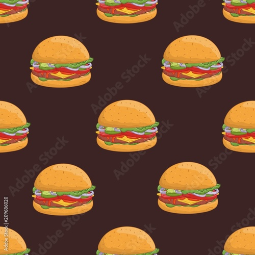 seamless pattern with appetizing