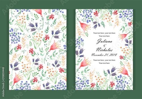 watercolor flower background border