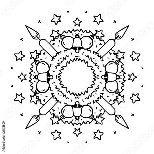 Mandala Adventskranz Stock-Vektorgrafik Adobe Stock
