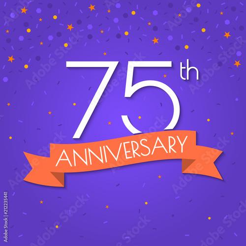 75 years anniversary logo isolated on
