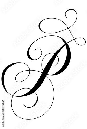 P Calligraphy : calligraphy, Calligraphy, Alphabet, Letter, Stock, Illustration, Adobe