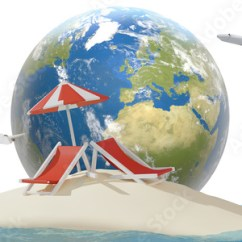 Air Travel Beach Chairs Swivel Chair Without Back Island Sand With Globe And Planes Elements Of This Image Furnished By Nasa