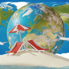 Air Travel Beach Chairs Chair Dance Moves Island Sand With World Map And Planes Elements Of This Image Furnished By