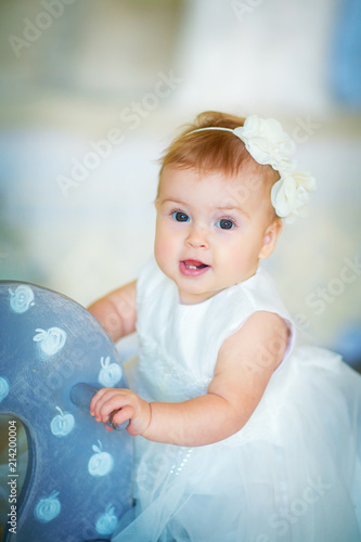 Smile Cute Baby Girl : smile, Image, Sweet, Wreath,, Closeup, Portrait, Month-old, Smiling, Girl,, Toddler, Stock, Photo, Adobe