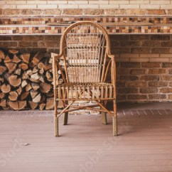 Chair Stands On Target Potty Chairs Wicker Autumn Veranda Buy This Stock Photo And