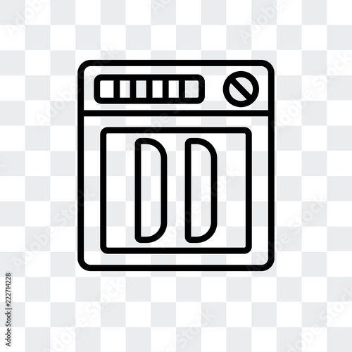 dishwasher icon isolated on