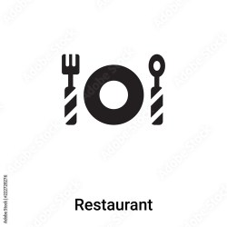 Restaurant icon vector isolated on white background logo concept of Restaurant sign on transparent background black filled symbol Buy this stock vector and explore similar vectors at Adobe Stock Adobe Stock