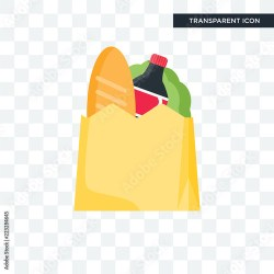 Groceries vector icon isolated on transparent background Groceries logo design Buy this stock vector and explore similar vectors at Adobe Stock Adobe Stock