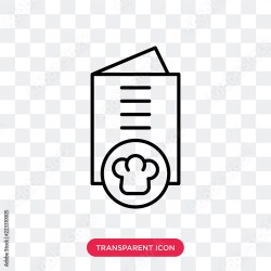Restaurant menu vector icon isolated on transparent background Restaurant menu logo design Buy this stock vector and explore similar vectors at Adobe Stock Adobe Stock